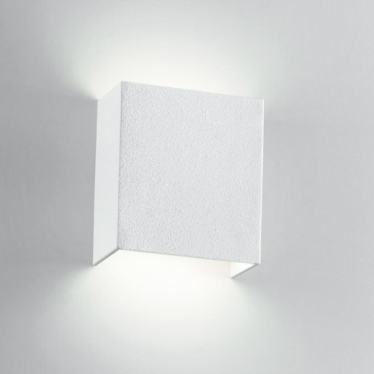 Faretti A Parete A Led.Applique Da Parete Led 6w Luce Calda In Alluminio Bianco