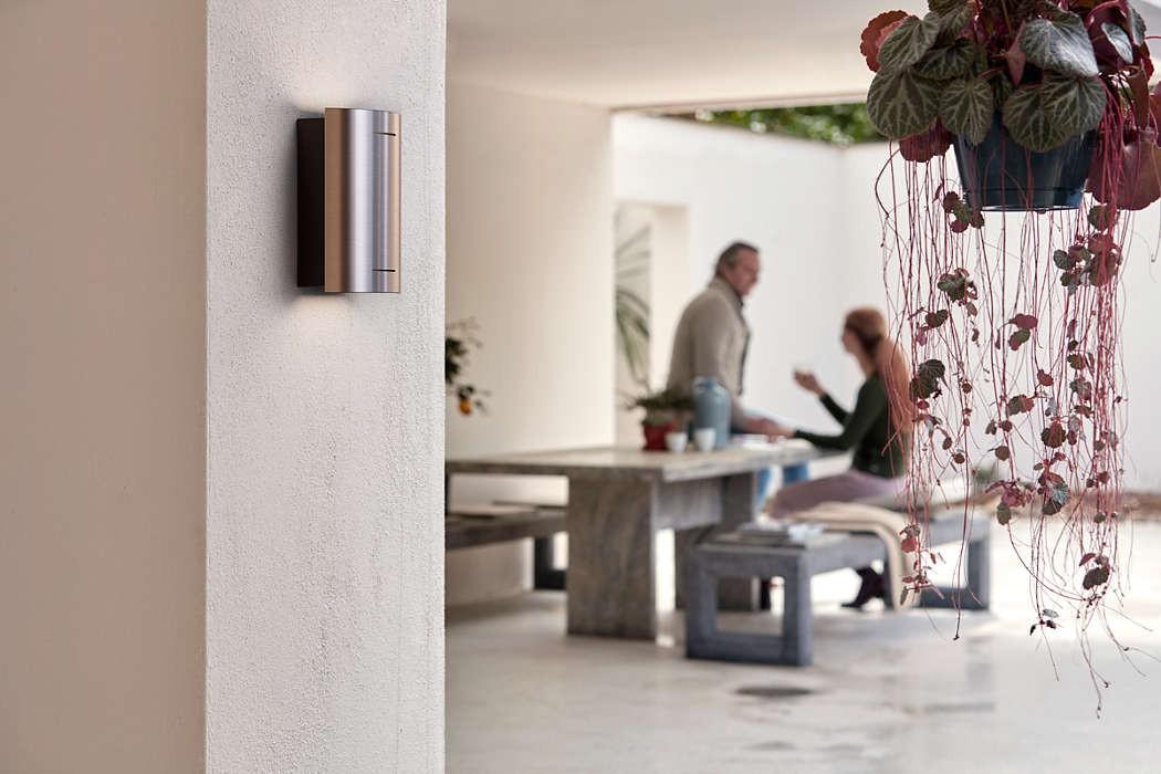 Plafoniere A Led Per Bagno Philips : Applique da esterno led philips sundog per giardino in acciaio