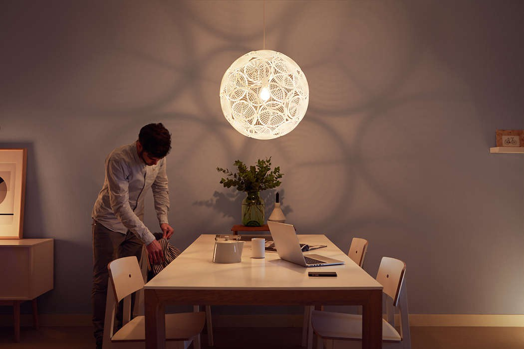 Plafoniera Led Philips My Living : Lampada sospensione design philips myliving ring bianco