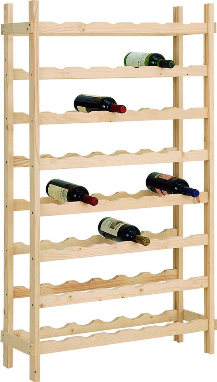 Portabottiglie Cantinetta 48 Bottiglie di Vino in Legno Abete Grezzo 72x25100 cm