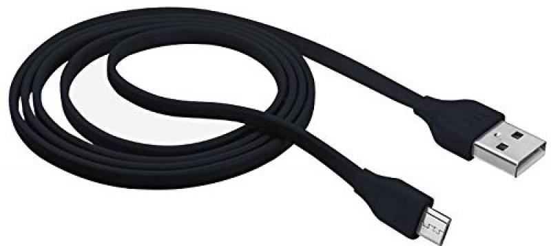 Cavo Piatto Nero Lunghezza 1 Metro In Gomma Morbida Resistente anche Micro-usb