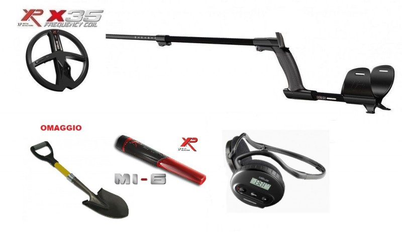 "Xp Deus Lite Promo Cuffia WS4 Piastra 9"" X35 + Pinpointer MI-6 Metal Detector"
