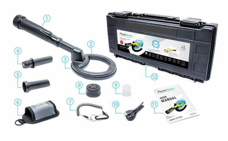 Nokta Makro Pulsedive Nero Scuba Detector + Pinpointer Subacqueo Wireless Pulse