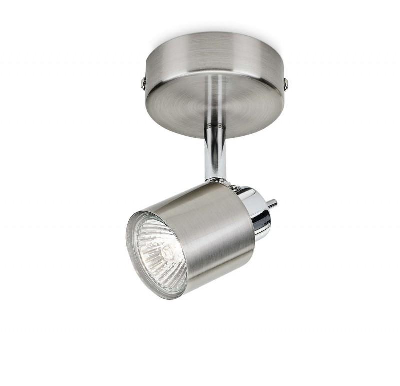 Faretto Led Spot.Faretto Led Spot Essentials Philips Meranti Cromato Satinato