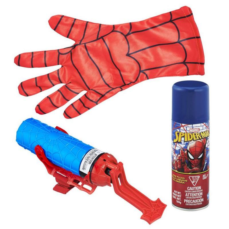 Hasbro Marvel Spider-Man Guanto Spararagnatela 2 in 1 Bomboletta Guanto