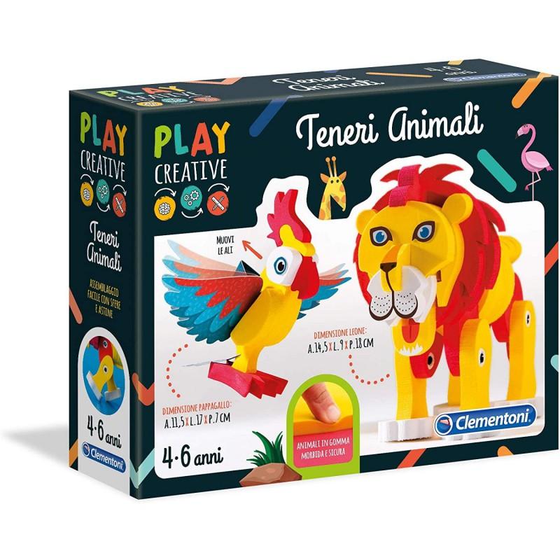 Clementoni 15261 Play Creative Crea Realizza Costruisci Teneri Animali Morbidi