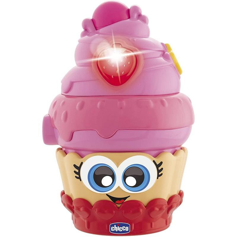Chicco Candy Passione Cupcake Ciliegia/pallina da girare Ricco di attività