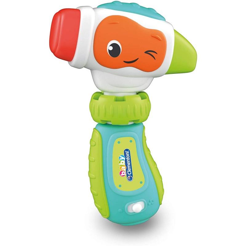 Baby Clementoni Donatello Il Martello Giocattolo Elettronico Parlante 9-36 Mesi