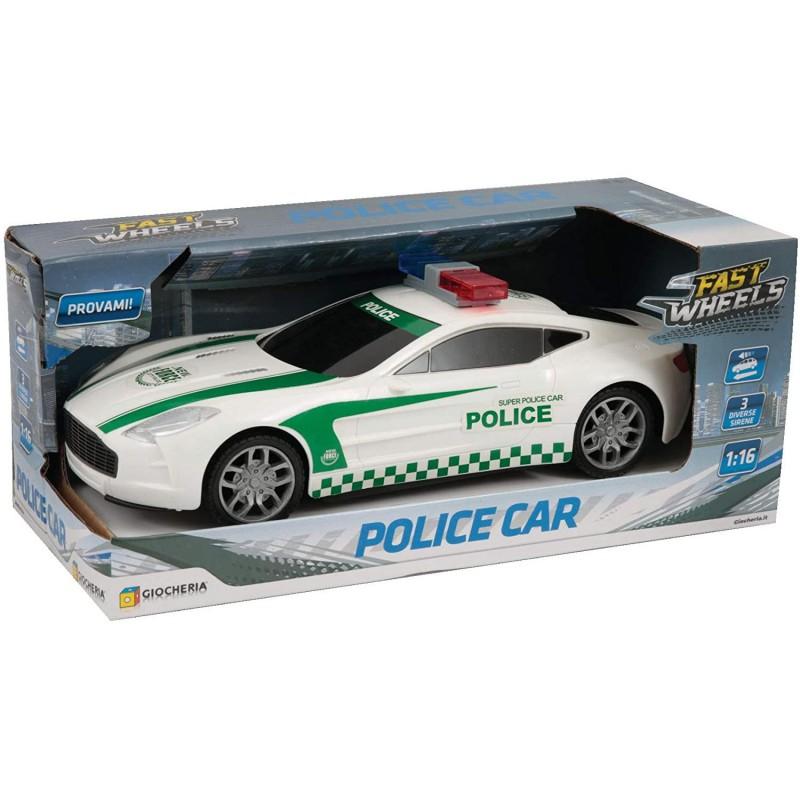 SIMENZARU Fast WEELS Auto Polizia Macchina Automobile Police Bianca scritta Verd