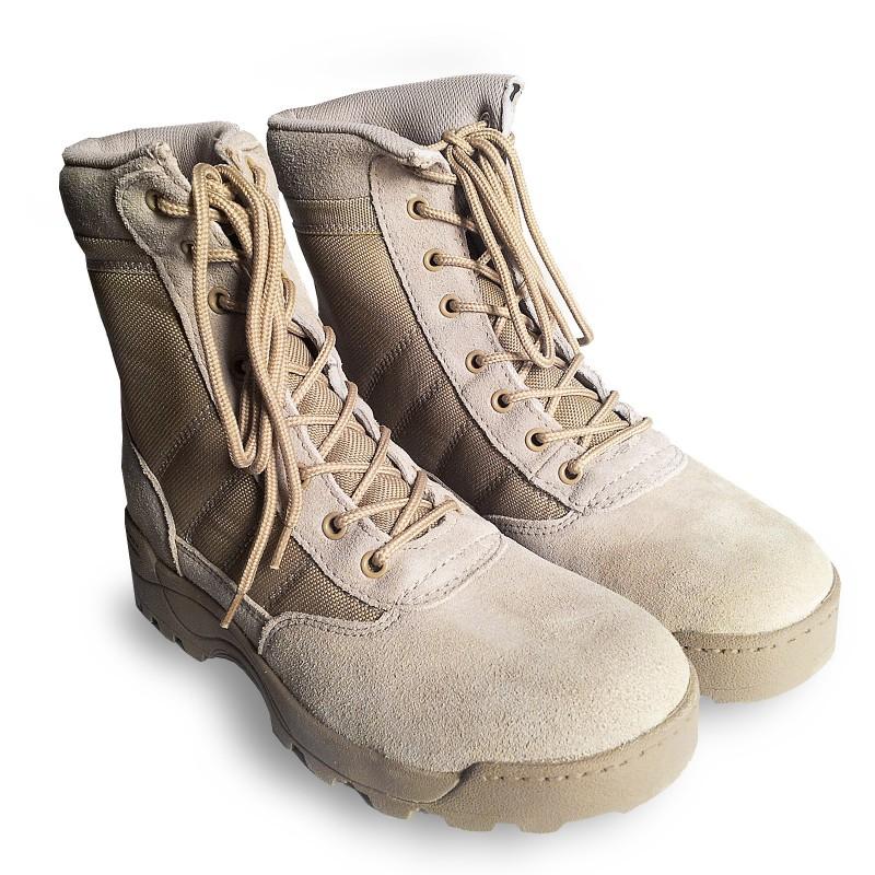 premium selection 929aa d8ee3 Anfibi Stivali Militari Scarpe Scarponi da Trekking Softair Caccia Tan  Taglia 44