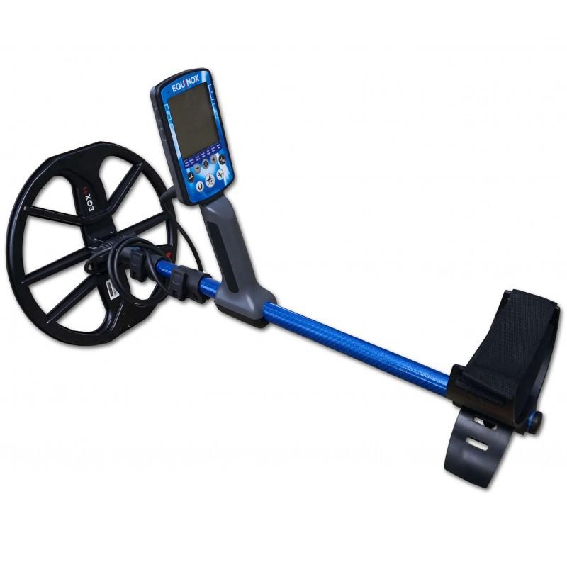 Asta Telescopica Equinox Minelab Fibra Carbonio Blu Chiusa 53cm Aperta 132cm