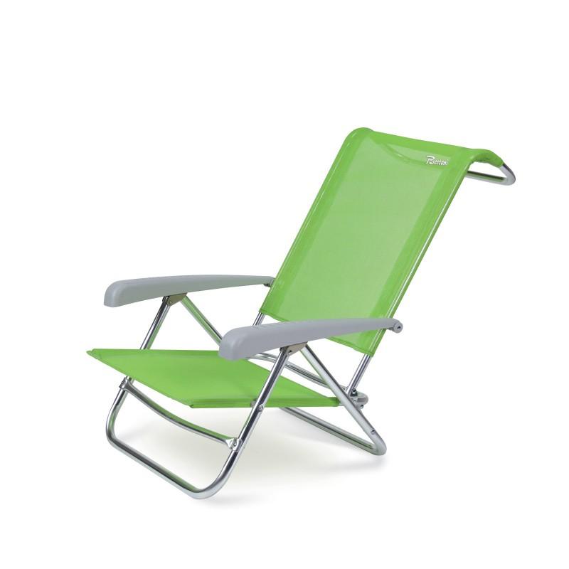 Sedie A Sdraio Per Spiaggia.Spiaggina Sedia Portatile Spiaggia Campeggio Sdraio Pieghevole Verde Berto Playa