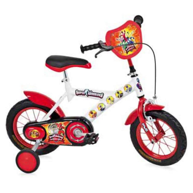Bicicletta Bambino Bmx Bici Bimbo 12 Super Warriors Bianca Made In Italy