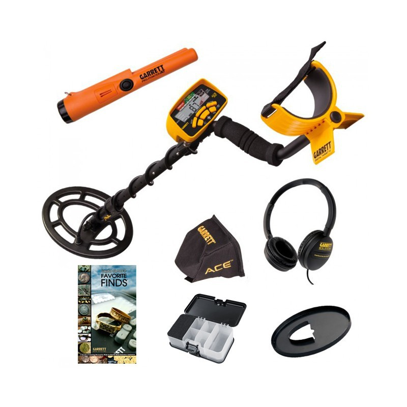 Garrett Ace 300i Pro Pointer AT Libro Box Cuffie Promo Natale Metal Detector