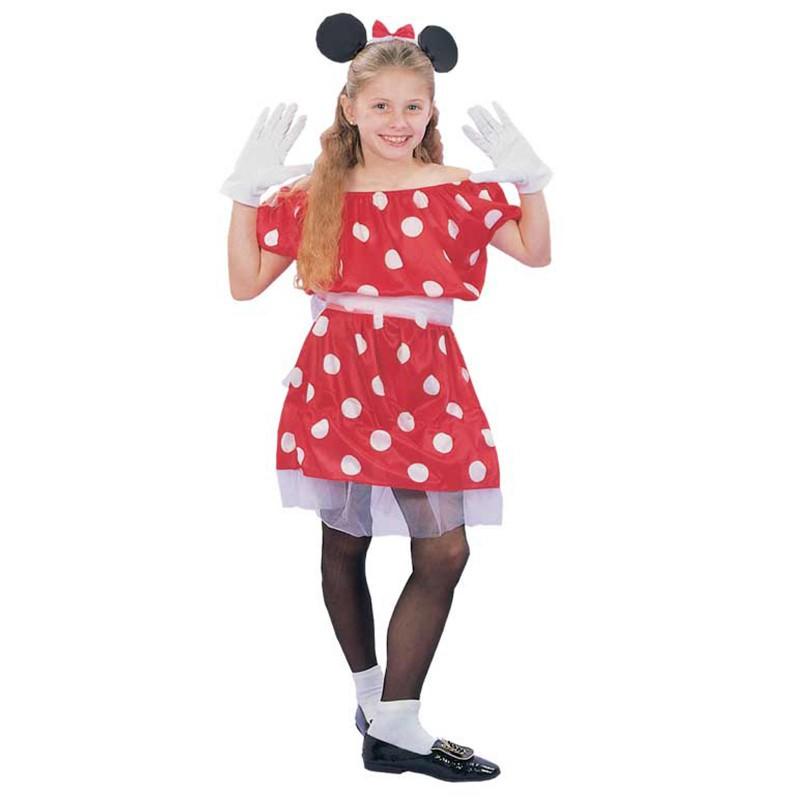 più foto nuova selezione 100% di alta qualità Vestito di Carnevale Minnie Topolina per Bambina Bimba Taglia L 11 14 Anni