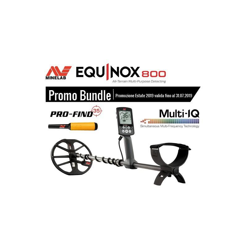 Minelab Equinox 800 Promo Metal Detector Pinpointer Pro-Find 35 Multi Frequenza