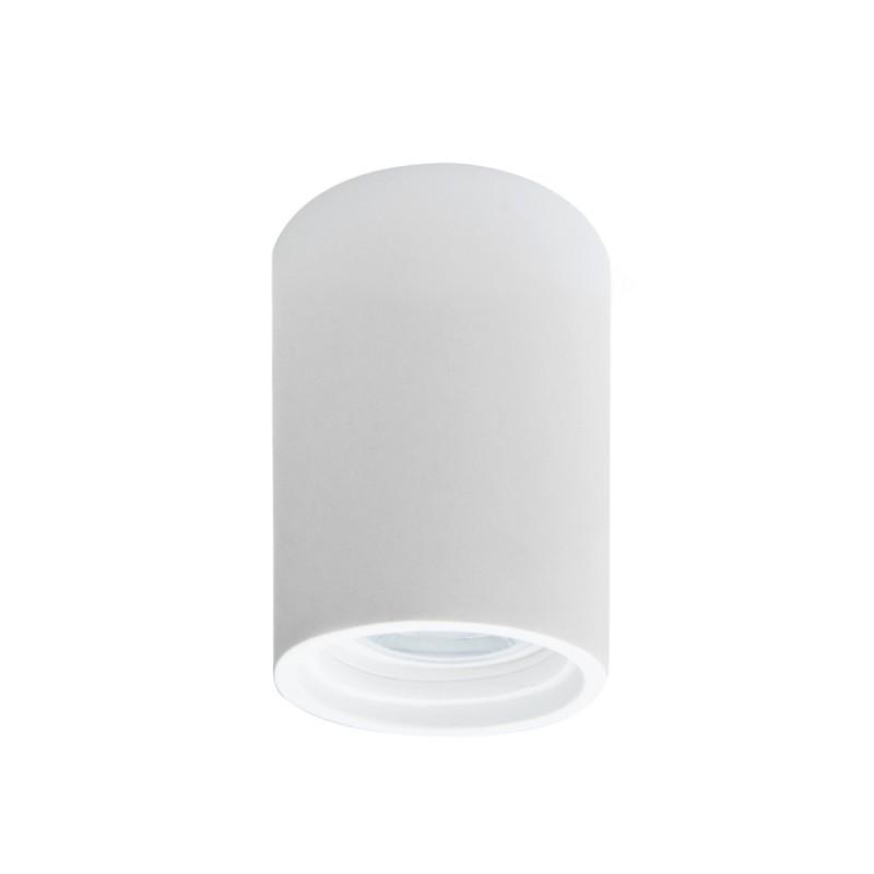 Faretti Da Interni.Porta Faretto In Gesso Tubo 10 Cm Moderno Gu10 Bianco