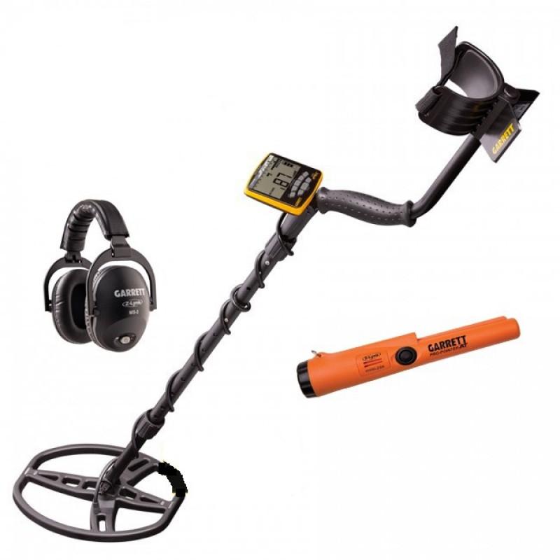 Metal Detector Garrett Apex Wireless Piastra Raider Pro Pointer AT Z-Link
