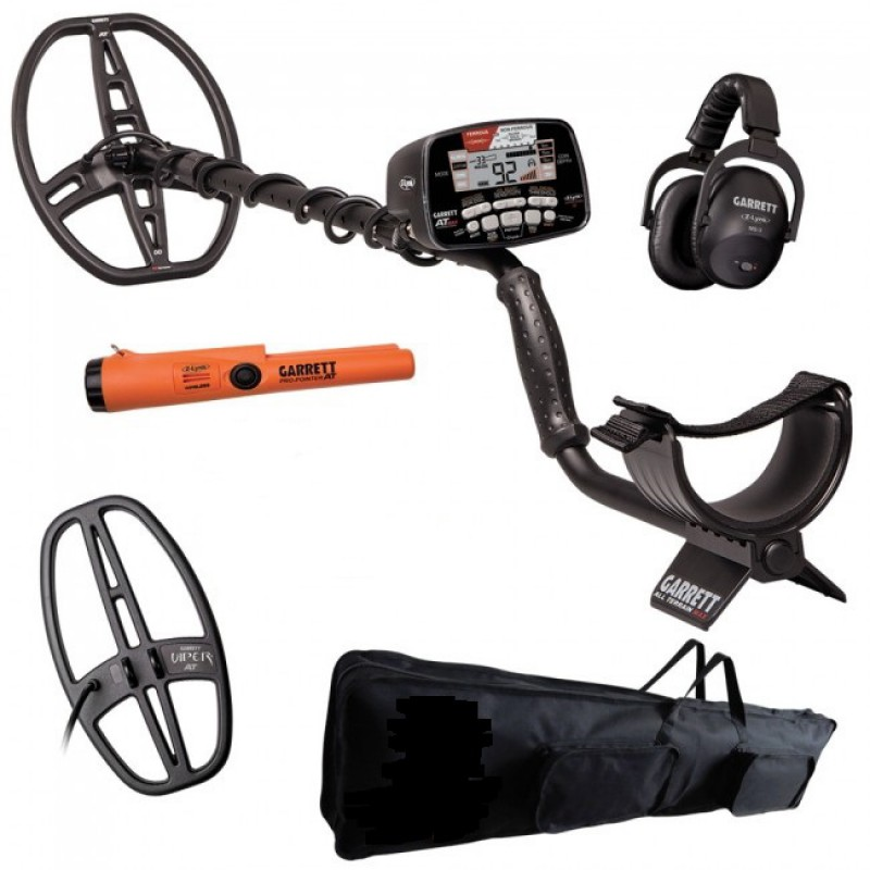 Metal Detector Garrett AT Max Pro Pack Pointer AT Z-Link Cuffie Promo Inverno