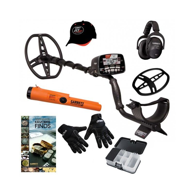 Metal Detector Garrett AT Max Pro Pointer Z-Link  Guanti Box Promo Natale