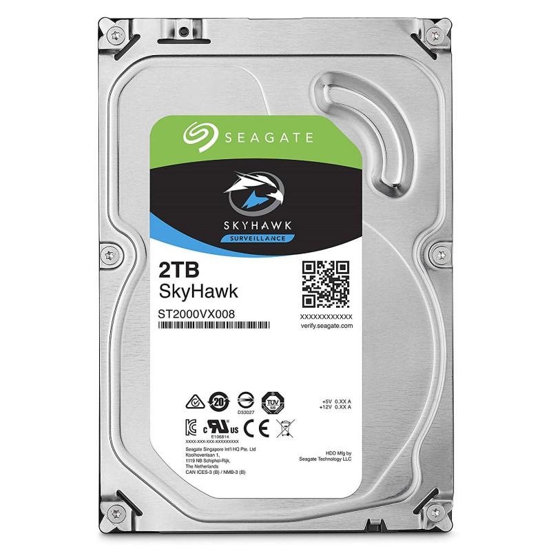 Hard Disk Seagate Skyhawk Porta Usb 2TB 3.5 2000Gb Adattatore Interno Memoria