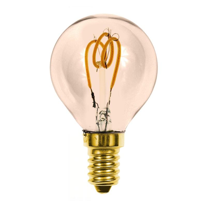 Lampada led a filamento e14 p45 2 5w luce calda soft for Lampada led e14