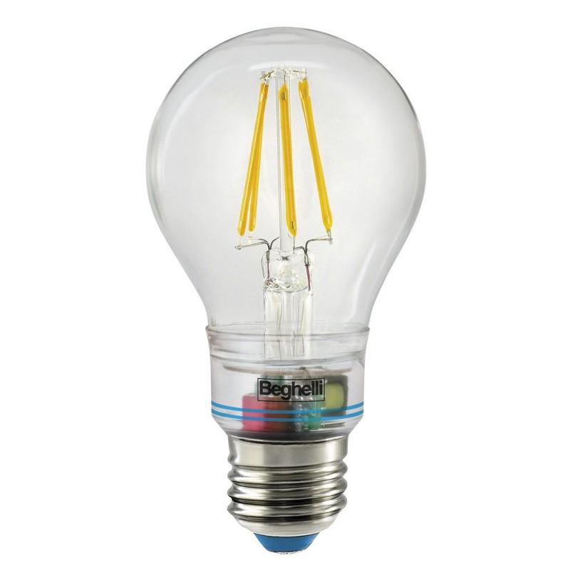 Lampadina Lampada Led E27 Luce Calda Anti Black-out Emergenza Zafiro Potenza 6W