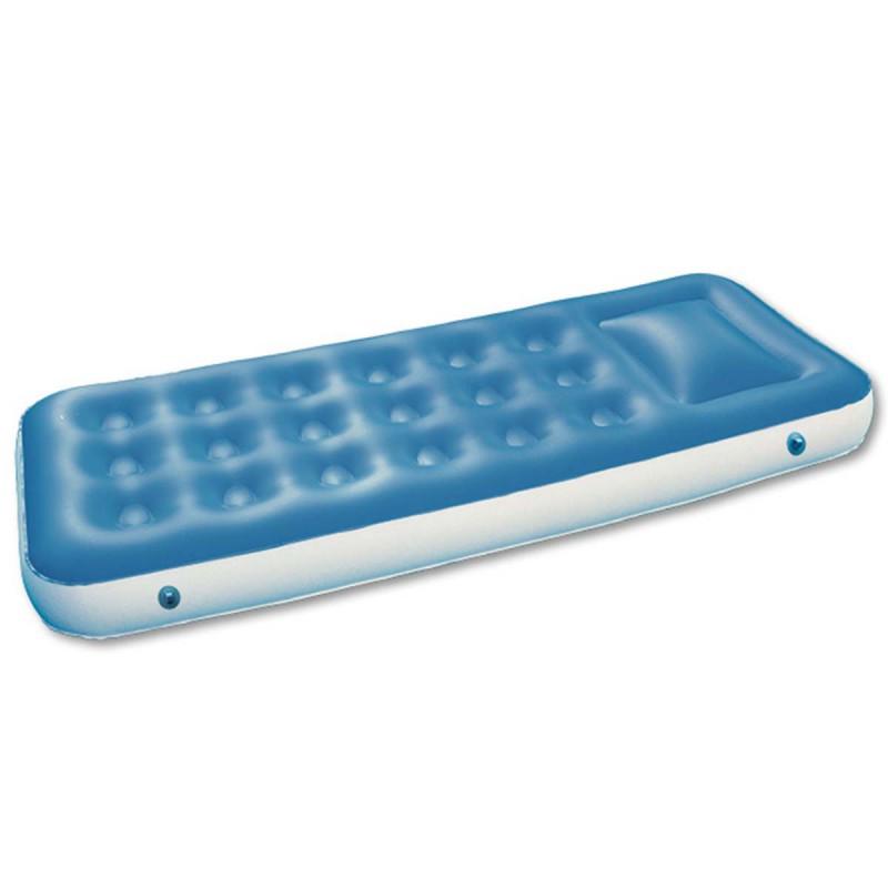 Materassino Gonfiabile 185x75 Singolo Azzurro per Piscina Spiaggia Campeggio