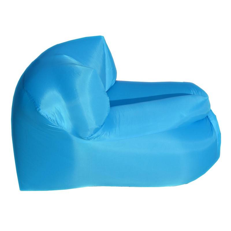Poltrona Sacco.Poltrona Sacco Smart Gonfiabile Ad Aria Autogonfiante Campeggio Azzurra