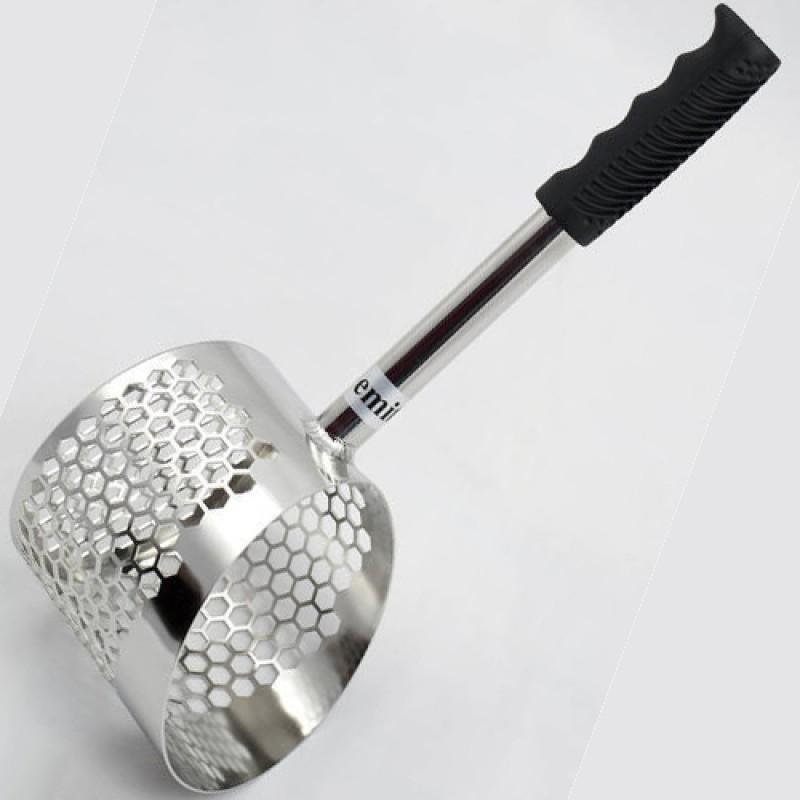 Mini Pala Acciaio Vanga Forata Sand Scoop S140 Metal Detector Cercametalli