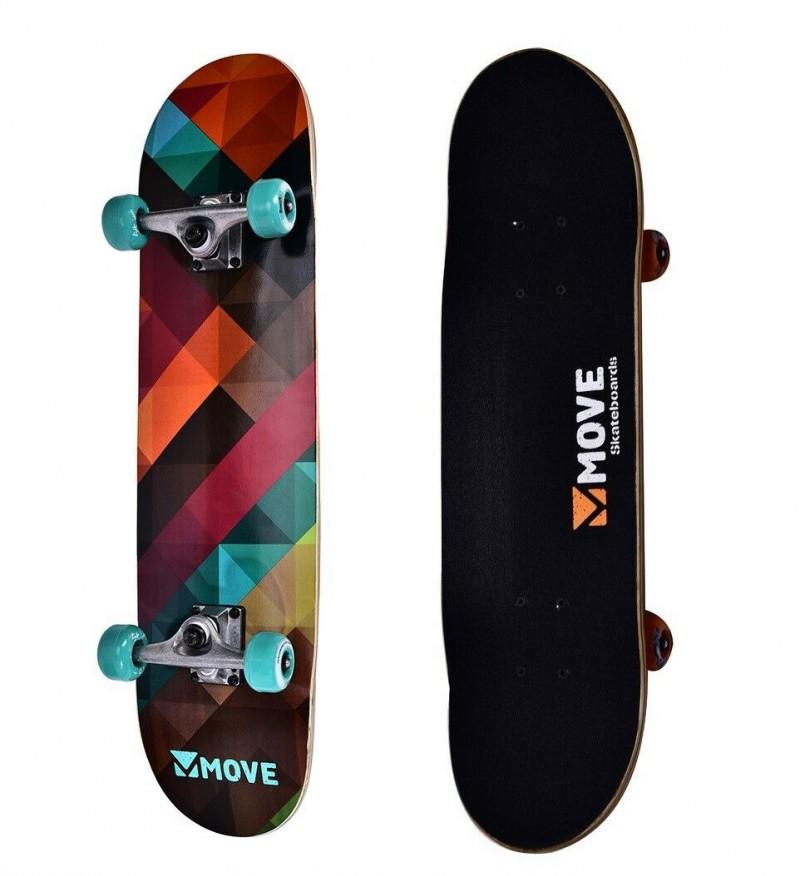 Skateboard Professionale Cube Move Skate Senior Completo con Ruote Colorato