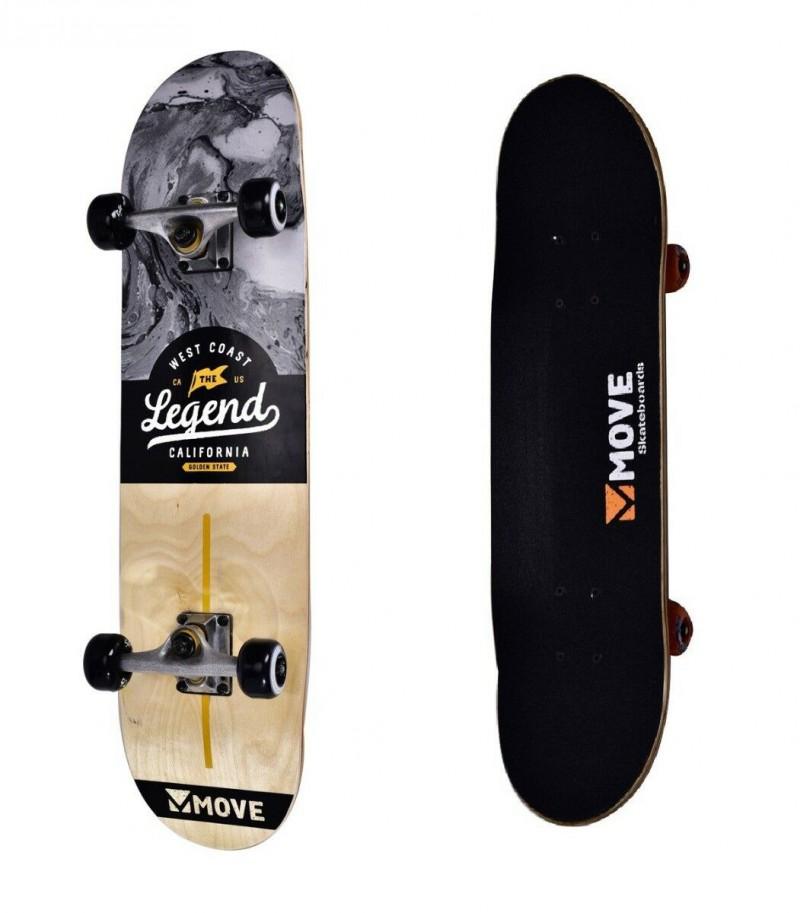 Skateboard Professionale Legend California Move Skate Senior Completo con Ruote
