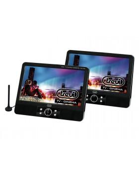 Lettore DVD portatile Trevi Adattatore Alimentatore USB 12V Nero Sistema video