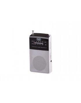 Radiolina Mini radio portatile Trevi Micro Audio Cuffie Speaker integrato Bianco