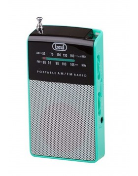 Radio portatile Am/Fm In Vintage Speaker Presa cuffia Trevi 57x97x20 mm Verde
