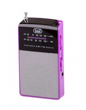 Radio portatile Am/Fm In Vintage Speaker Presa cuffia Trevi 57x97x20 mm Fucsia