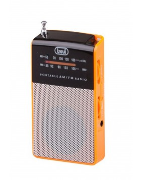 Radio portatile Am/Fm In Vintage Speaker Presa cuffia Trevi 57x97x20 mm Arancio