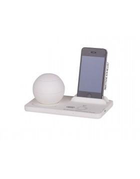 Altoparlante bianco Trevi 2,5 W Diffusore suono Speaker Iphone Base universale