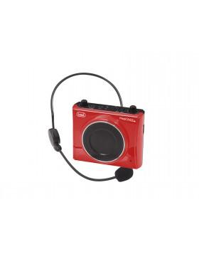 Amplificatore vocale Radio FM Riproduttore voce Musica Trevi Rosso Portatile USB