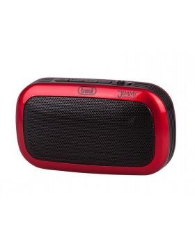Radio FM portatile Con woofer Mp3 USB e SD Speaker integrato Trevi Rosso