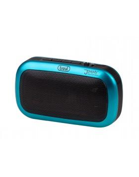 Radio FM portatile lettore Mp3 ingresso USB SD 30 stazioni Trevi Blu