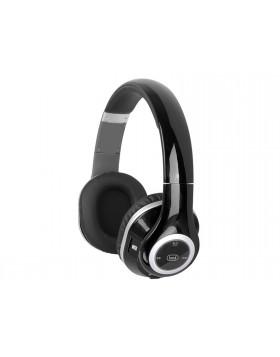 Cuffie con microfono Radio Mp3 e Bluetooth Trevi Nero