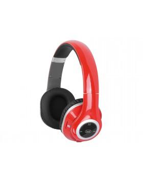 Cuffie con microfono Radio Mp3 e Bluetooth Trevi Rosso