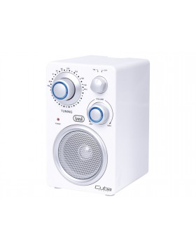 Radio portatile Per Mp3 Banda FM AUX Trevi Bianco Cuba Con LED165x95x42  mm