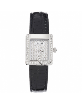 OROLOGIO DONNA LIU JO LUXURY GLAM PELLE NERO TLJ054 NEW