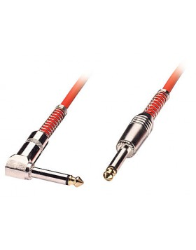 Cavo audio 6,3mm mono con un connettore ad angolo, 6m rosso