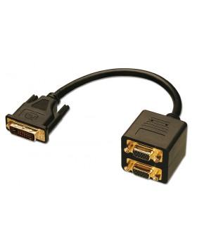 Cavo Splitter DVI-I M / 2 x VGA F