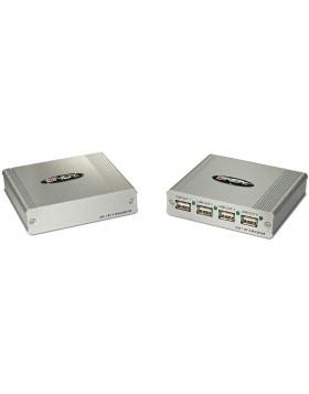 Extender USB 2.0 Cat.5 con Hub 4 Porte, 150m