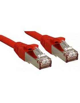 Cavo di Rete Patch Cat.6 SSTP - S/FTP PIMF privo di alogeni, rosso, 10m