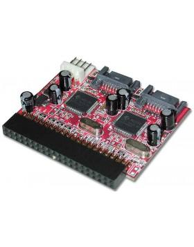 Adattatore 2 x Serial ATA a Mainboard IDE